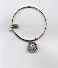 ALEX & ANI silver st christopher charm bracelet