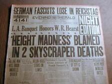 1930 headline newspaper Nazi leader HITLER begins his rise to power in GERMANY