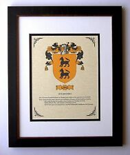 HERALDRY COAT OF ARMS ~ LOPEZ FAMILY CREST~ FRAMED