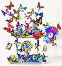 """Clock BUTTERFLY """"GIANNI VERSACE"""" Museum Artistic . UNIQUE LIMITED Edition 2000"""