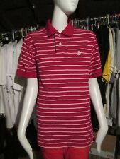 NIKE - RED, WHITE STRIPED  Polo Shirt Size 38 INCH CHEST - 100%COTTON
