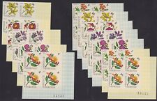 Burundi 1966 IMPERFORATE stamp set FLOWERS on Block of 4 - MNH Luxe........A5641