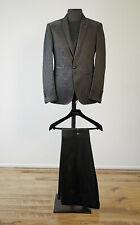 Philipp Plein Diamond Cut Slim Fit Anzug NP1690€ Gr. 52 in Scwarz,silber meliert