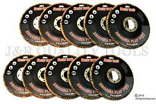 "10PC 180 Grit 4-1/2"" Premium Zirconia Flap Disc for Sanding and Grinding"