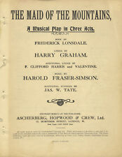 Harold FRASER-SIMSON / Maid of the Mountains A Musical Play in Three Acts Book