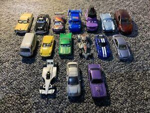 Diecast Toy Car Bundle Job Lot - Disney Cars, Hot Wheels, Matchbox, Norev Etc
