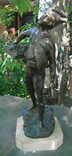 Statua in bronzo inizio '900 - Il Pescatore di G. Boni - CAPOLAVORO
