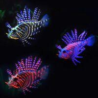 Hot Artificial Fish Tank Aquarium Decor Lionfish Vivid Sea Life Glowing Effect