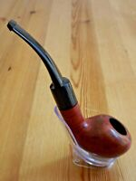 Large Tomato Half Bent Briar Pipe - German Hand Crafted - Brown