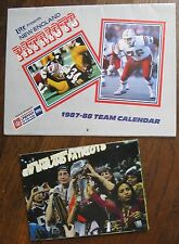 New England Patriots (2 Items) 1987 Lite Beer Calendar & 2003 SB Champs Poster
