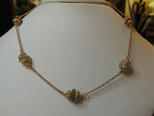 Collier or jaune 18 carats serti de pierres précieuses fines