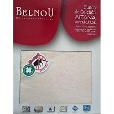 Belnou funda colchón Aitana 100% algodón ajustable 90 105 135 150 160 180 y 200