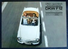 AUTO UNION - DKW F12 ROADSTER BROCHURE C 1961 (GERMAN).