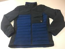 Mountain Hardwear Mens Medium Stretchdown HD Jacket Nightfall Blue Warm Down