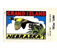 Lot of 12 Grand Island Nebraska Souvenir Luggage Decal Stickers - New - Free S&H