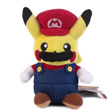 Pokemon Center Pikachu Mario Soft Plush Toy Super Mario Cosplay Figure 9 inch