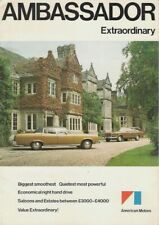 American Motors Ambassador 1974 UK Market Foldout Sales Brochure Saloon Estate