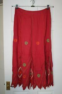 Per Una ~ Embroidered Linen Skirt ~ Size 14L ~ NWT