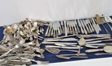 240 pieces MIXED  SILVERPLATE FLATWEAR CATERING CRAFTS LOT