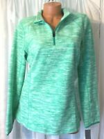 IDEOLOGY by Macy's Fleece Quarter Zip Sweatshirt top Green LARGE New With Tags
