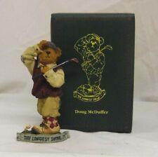 Doug McDuffer 2003 Boyds Bearstone  Golfer Golf 4in Fathers day figurine 2277920