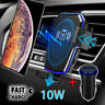 10W QI Wireless Fast Charger Car Air Vent Holder Gravity Mount For iPhone XS 11