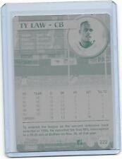 1/1 TY LAW NEW ENGLAND PATRIOTS 2000 PACIFIC Printing Press Plate Free Shipping
