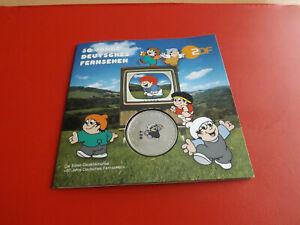 *BRD 10 Euro 2002 Silber/Farbdruck Blister *DET* 50 Jahre Fernsehen (Ki.8)
