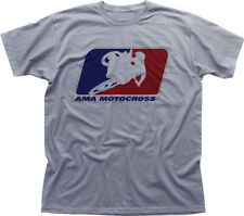 Ama Motocross Superbikes Moto Heather Algodón Camiseta OZ0438