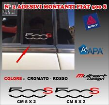ADESIVI MONTANTI  PER FIAT  NUOVA 500 S , TUNING STICKERS PROFESSIONALI