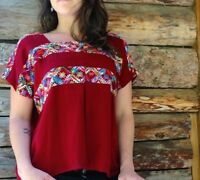 Women's top, handmade, natural dye, cotton, Guatemalan, embroidery