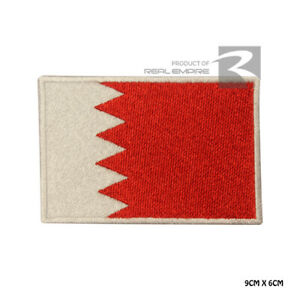 Bahrain National Flag Iron on Sew on Embroidered Patch Badge For Clothes Etc