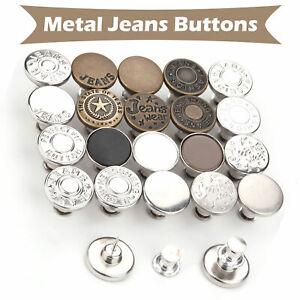 2pcs 10pcs Replacement Jeans Buttons No Sew Instant Button Detachable Pants DIY
