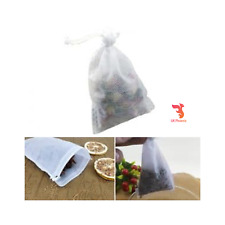 Empty Tea Bags Sachets with String Heal Stamp Filter Paper Loose Grass Herb Bag