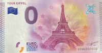 BILLET 0  EURO TOUR EIFFEL PARIS FRANCE 2015 NUMERO 2000