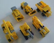 lot de 6 Transformers Constructicon G2 Jaune