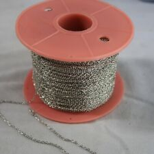 5 metres silverplated fine chain- suitable for necklaces  (Y22)