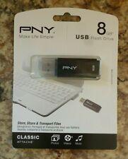 NEW PNY 8GB USB Classic Attach Flash Drive