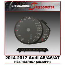 3D Speedometer Faceplate Fits a 2014 to 2017 Audi A5/A6/A7/RS5/RS6/RS7 MPH x1Set
