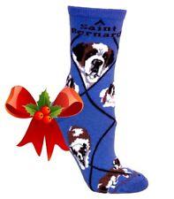 New Saint Bernard Socks~Wheel House~Usa~Med~Great Christmas Gift! Ships Free!