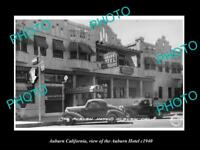 OLD LARGE HISTORIC PHOTO OF ASHBURN CALIFORNIA, VIEW OF THE ASHBURN HOTEL c1940