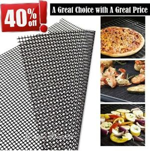 BBQ Grill Mesh Fish Non-Stick Mat ⭐⭐⭐⭐⭐ Reusable Sheet Resistant Barbecue Meat