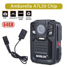 "2"" Lcd Police Body Worn 64G Camera 1296P Fhd 140° Night Vision Ir High Capacity"