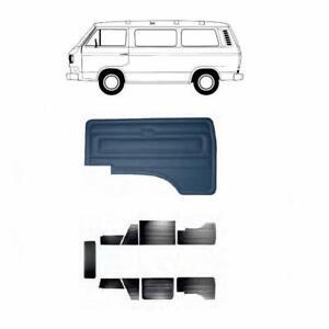 VW T3 T25 TRANSPORTER DOOR PANEL SET BLACK 1985-1989