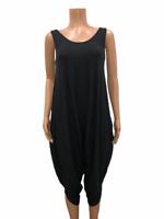 AnyBody Women's Regular Scoop Neckline Cozy Knit Romper Solid Black Medium Size