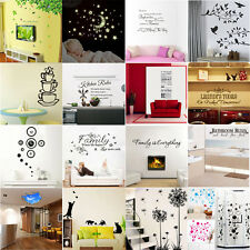 Multi-Styles DIY Removable Mirror Decal Mural Wall Stickers Home Craft Decor