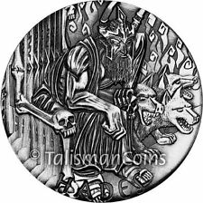Perth Mint Tuvalu 2014 Gods of Olympus Hades $2 2 Oz Pure Silver High Relief
