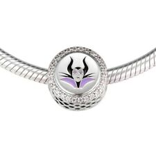 Maleficent Mistress of Evil charm REAL 925 Sterling Silver Tennis Bracelet Bead