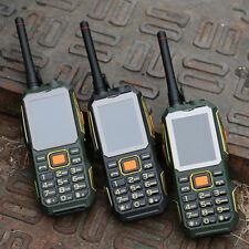 4000mAh 2.4'' UHF Walkie Talkie Mobile Téléphone GSM 2 SIM Carte FM Power Bank