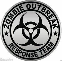 ZOMBIE OUTBREAK RESPONSE TEAM GREY HELMET BUMPER CAR STICKER DECAL MADE IN USA